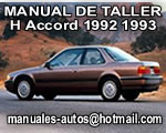 Accord Honda 1992 1993 Manual de Reparacion y Mantenimiento