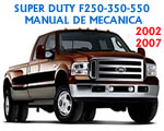 Manual De Mecanica F-Super duty f250 f350 f550 2002 2003