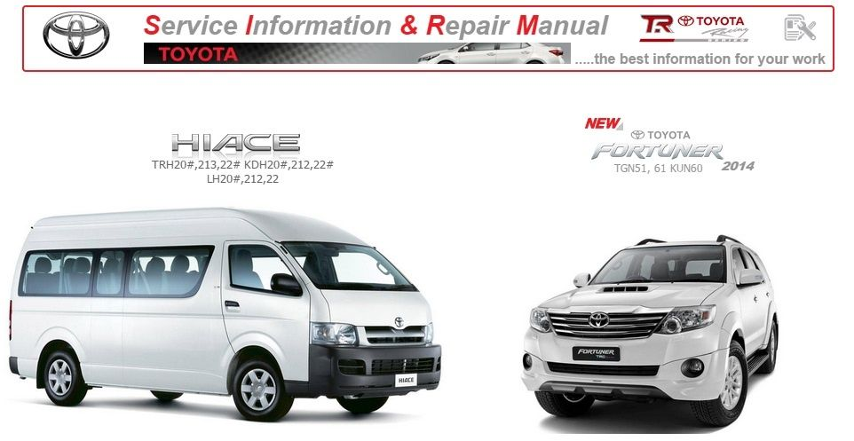 Toyota Hiace Y Fortuner Manual Del Taller Gsic 2014
